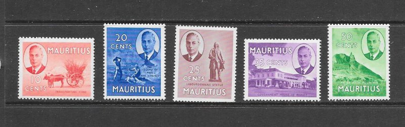 MAURITIUS #240/45  KING GEORGE ISSUES  MNH