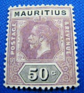 MAURITIUS  1912  -  SCOTT # 155  -   MH       (X29)