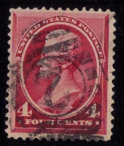 US Sc #215 Jackson 4c Rose Carmine Used VF