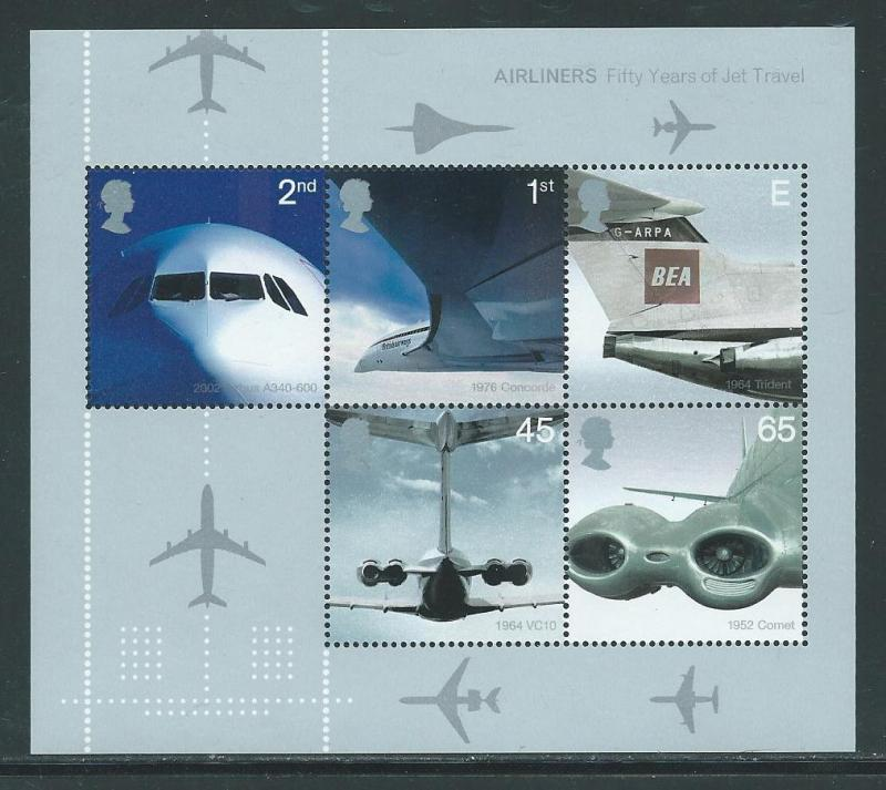 Great Britain 2052a 2002 Jet Aircraft s.s. MNH