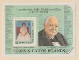 Turks & Caicos Scott #534 Stamps - Mint NH Souvenir Sheet