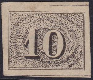BRAZIL 1854-61 - an old forgery of a classic stamp..................5773