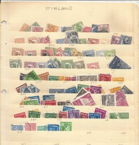 FINLAND COLLECTION ON STOCK SHEET, MINT/USED