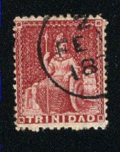 Trinidad #6   Used 1854-57 PD