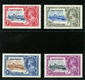 Basutoland 1935 KGV Silver Jubilee set complete MLH. SG 11-14. Sc 11-14.