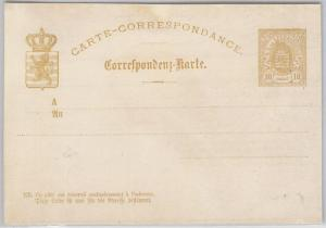 LUXEMBOURG -  POSTAL HISTORY: STATIONERY CARD - PROOF !!