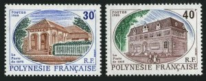 Fr Polynesia 501-502,MNH.Michel 521-522. Tahiti Post Office,1989.