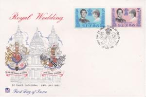 Isle of Man 1981 Royal Wedding First day Cover  Pristine