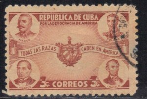 CUBA SC# 369  **USED** 1942   3c   SEE SCAN