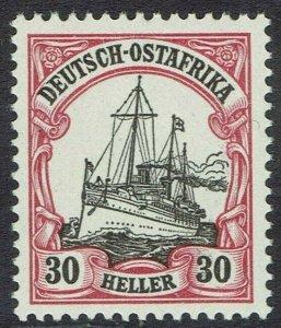 GERMAN EAST AFRICA 1905 YACHT 30H MNH ** NO WMK