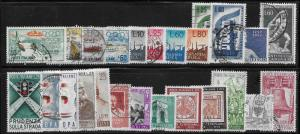 Italy mini collection of 53 used stamps 2018 SCV $25.40 -see description- 11794