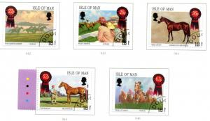 Isle of Man Sc 913-7 2001 Horse Racing stamp set used