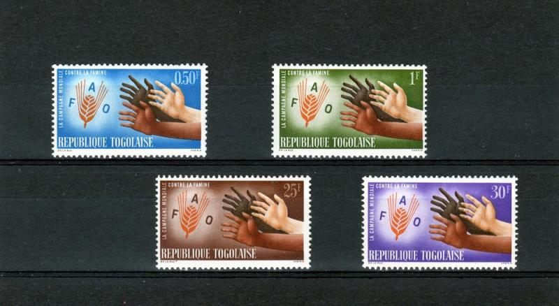 Togo 1963 FAO Freedom for Hunger set (4) Perforated mnh.vf