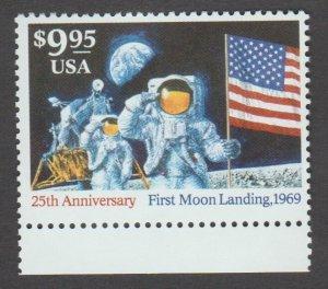 # 2842 Mint MNH $9.95 Moon Landing 25th Anniversary  CV $45.00⭐⭐⭐⭐⭐