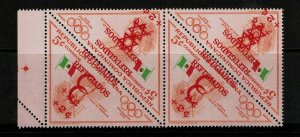 Dominican Republic SC# B17/18 BK4 MNH / Double Ovpt / Signed STOLOW - S9176