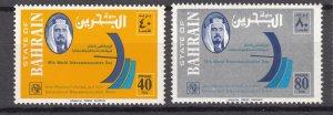 J27245 1978 bahrain set mnh #261-2 communication ITU