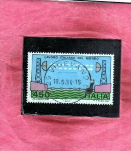 ITALIA REPUBBLICA ITALY 1982 LAVORO ITALIANO NEL MONDO LABOUR PONTE RADIO A M...