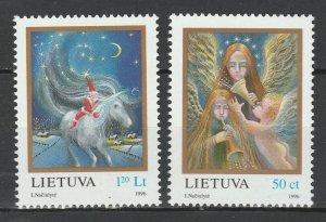 Lithuania 1996 Christmas 2 MNH stamps
