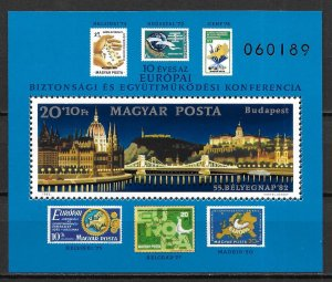 Hungary MNH S/S B328 Parliament Building Buda Castle
