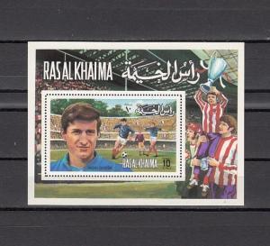 Ras Al Khaima, Mi cat. 751, BL132 A. European Soccer s/sheet. ^