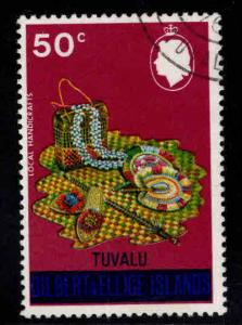 TUVALU Scott 314a overprinted GE stamp, wmk 314 Used