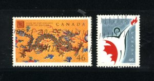 Canada #1835-36   -1   used VF 2000 PD