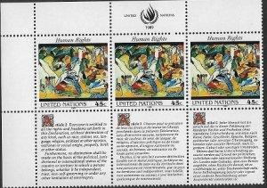 United Nations 1988 NY  Human Rights SC# 571  MNH