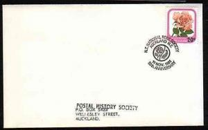 NEW ZEALAND 1981 cover NATIONAL ROSE SOCIETY commem pmk....................33519