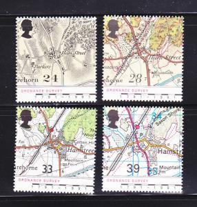 Great Britain 1392-1395 Set MNH Maps (B)