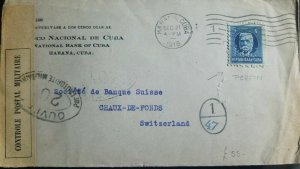 O) 1918 PERFINS - CALIXTO GARCIA 5c, MILITARY POSTAL CONTROL, BANCO NACIONAL, XF