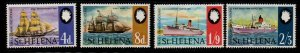 St Helena Sc 224-27 1969 Ships stamps set mint NH