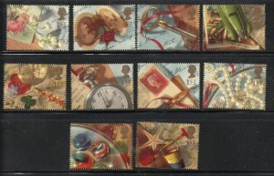 Great Britain Sc 1426-35 1992 Memories stamp set mint NH
