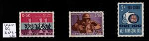 Republic of South Vietnam Scott 244-246 MNH**  set