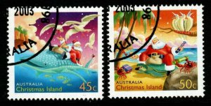 CHRISTMAS ISLAND SG526/7 2003 CHRISTMAS FINE USED