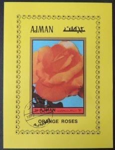 AJMAN 1972 Flowers Roses VFU