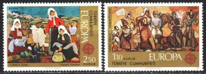 Turkey. 1975. 2355-56. Folk costumes, europe-sept. MLH.
