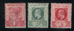 Cayman Islands #2-4  Mint VF PD