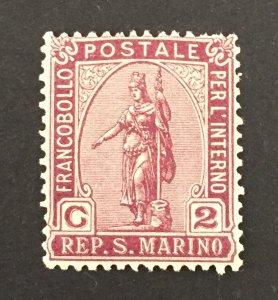 San Marino 1922 #33, Liberty, Unused/MH