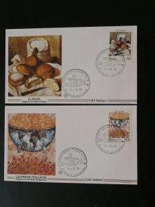 food italian pasta bread 1994 x2 FDC Italy 87558