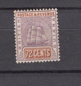 J26592  jlstamps 1889-1903 Br guiana  mh #146 ship lilac/org brown wmk 2