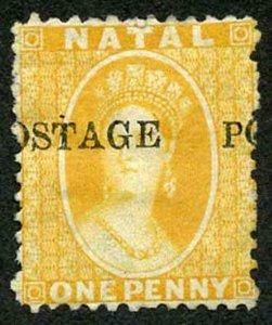 Natal SG82 1d Yellow Very Fresh Mint (part gum) Cat 90 pounds