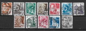 Germany 5N14-25 1948 short set Used (z1)