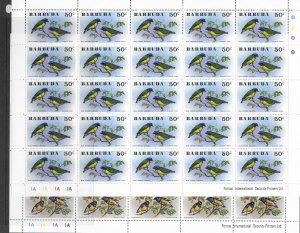Barbuda 238-43 MNH sheets of 25, cpl set. vf see desc. 2020 CV$193.75