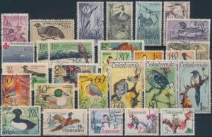 Czechoslovakia stamp 1938-1991 37 Birds stamps Used 1938 WS191360