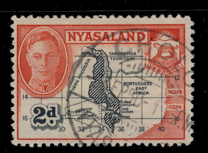 NYASALAND - 1950 - SG147 CANCELLED CHOLO GCR TYPE DATE STAMP