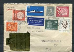 Germany 1957 Cover Wurttemberg  USA   (MiF) Cv 24 Euro