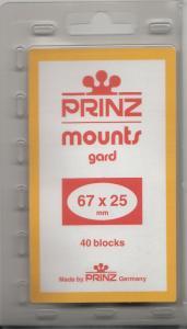 PRINZ BLACK MOUNTS 67X25 (40) RETAIL PRICE $6.50