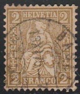 Switzerland #60 Used Stamp cv $22.50 (U2)