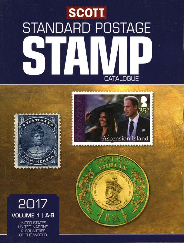 2017 SCOTT STANDARD POSTAGE STAMP CATALOGUE VOLUME 1 (US, UN, A,B)