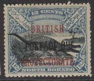 NORTH BORNEO SGD46 1910 12c BLACK & DULL BLUE MNH